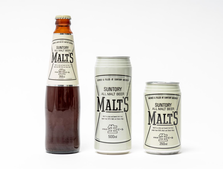 サントリー生ビール モルツ 小瓶、ロング、レギュラー缶のイメージ